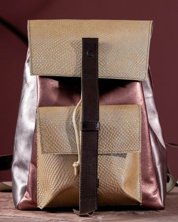 Lacquer Leather backpack product
