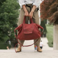 woman with a travle bag