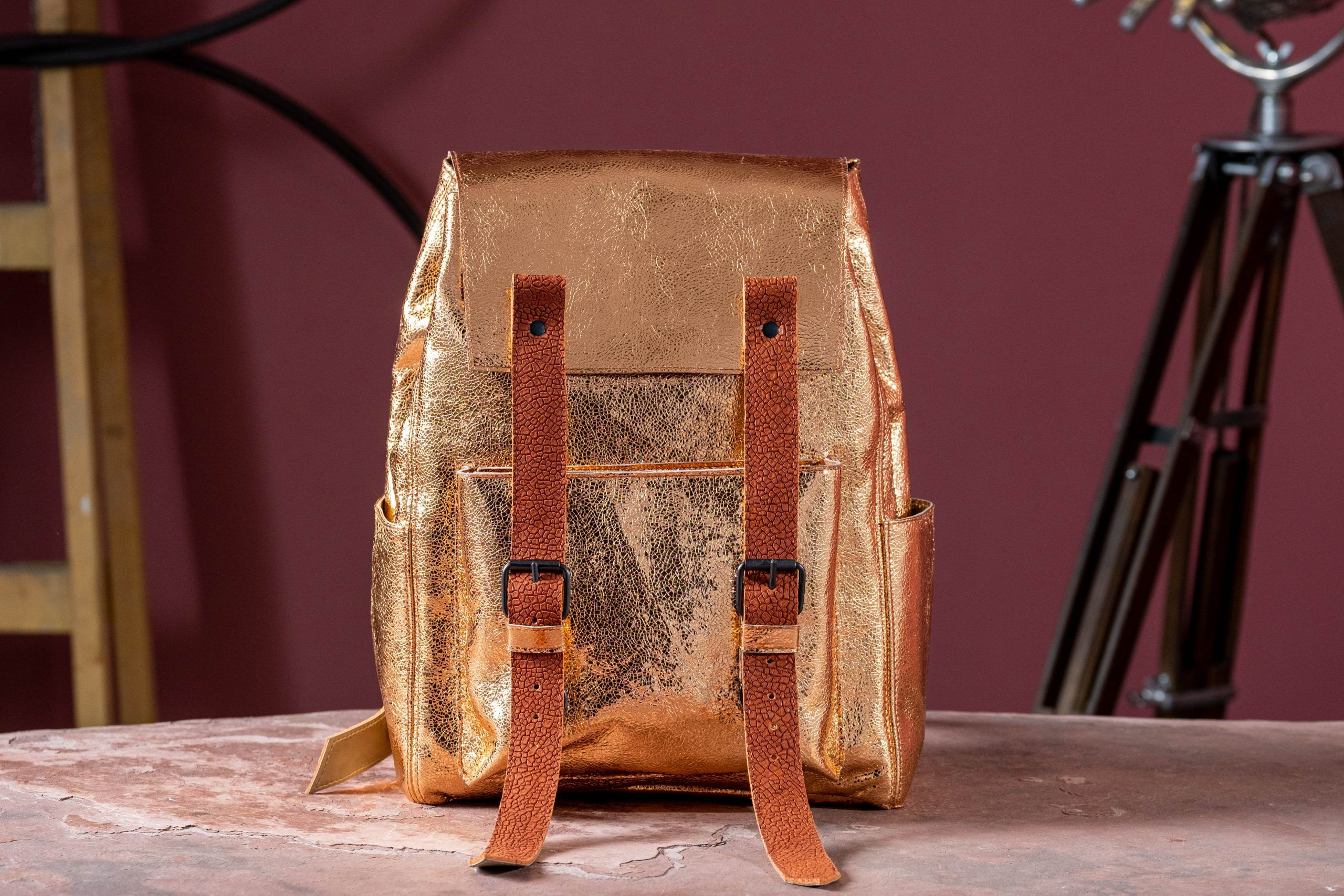 Rising Sun leather Backpack