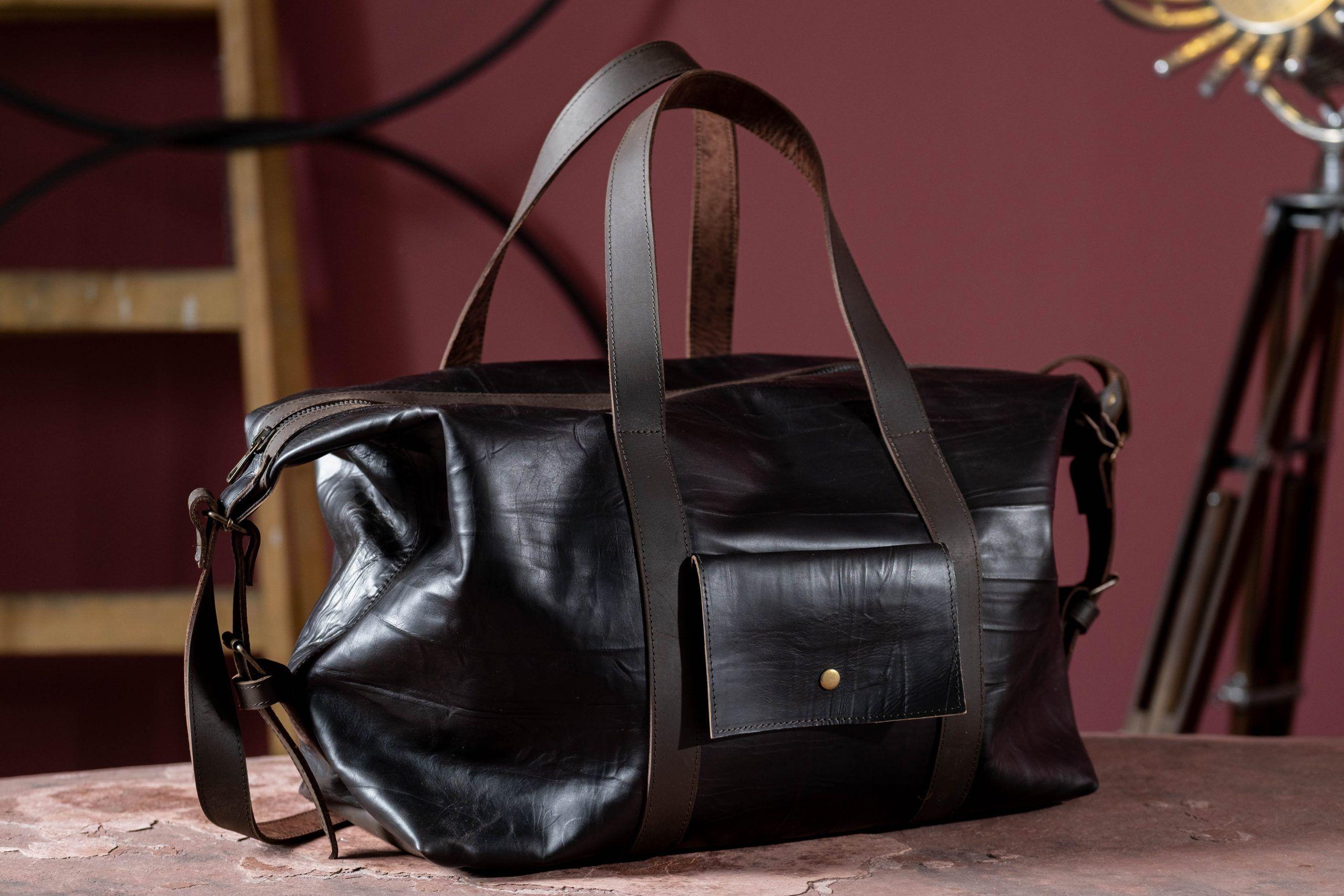 travel leather bag