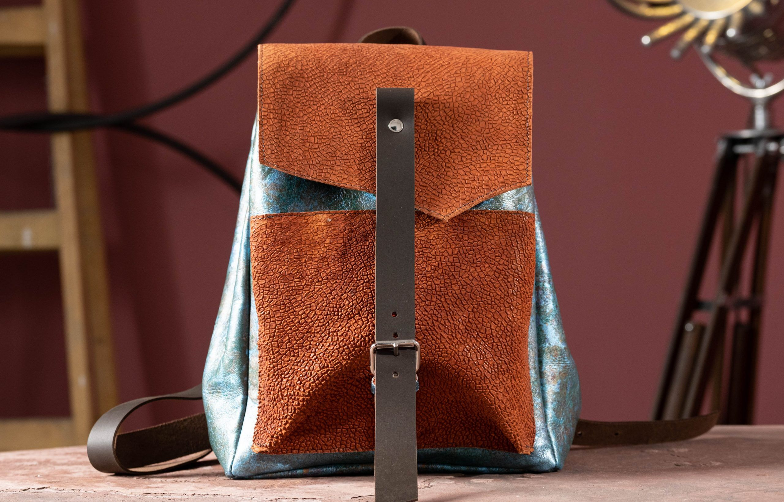 ice and fire leather backpack
