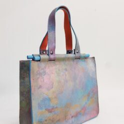 Koja mini leather bag in a combination of yellow blue and pink and green